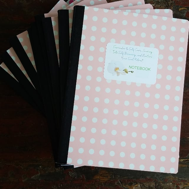 Just returned with Deneen from setting up for Sunday's retreat in South Plymouth. Now putting on the final touches with these custom notebooks. . . So excited to share this experience with so many beautiful women on Sunday and spend some sacred time together. . . www.laurahealingwithspirit.com  @mcqueendeneen @healingtraumathroughspirit